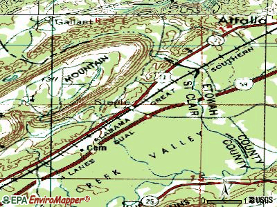 Steele topographic map