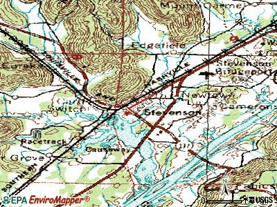 Stevenson topographic map