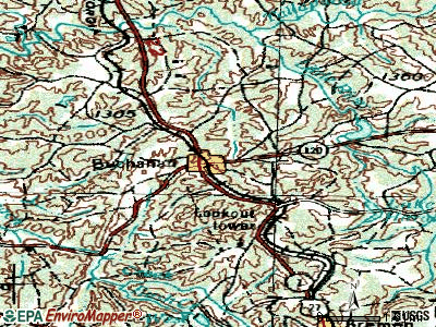 Buchanan topographic map