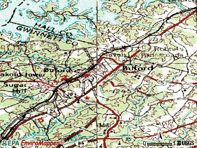 Buford topographic map