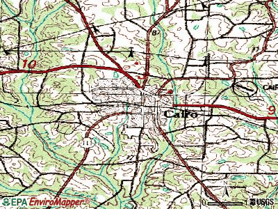 Canton topographic map