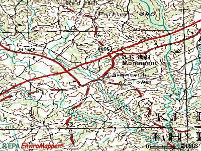 Carnesville topographic map