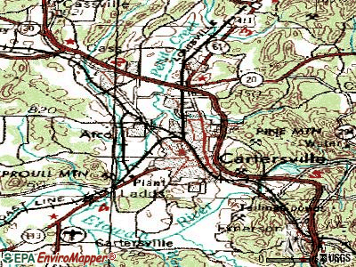 Cartersville topographic map