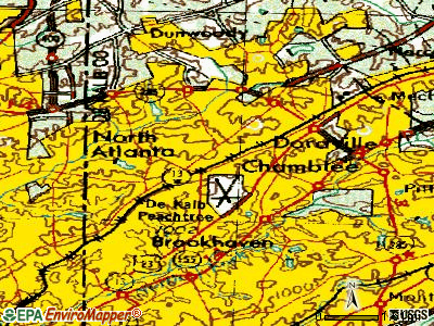 Chamblee topographic map
