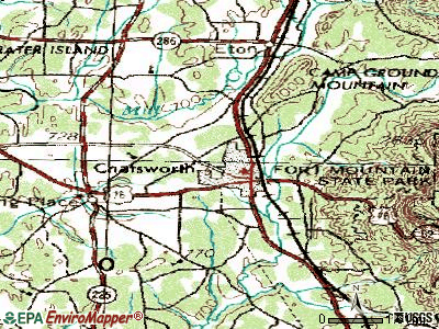 Chatsworth topographic map