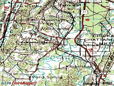 Chickamauga topographic map