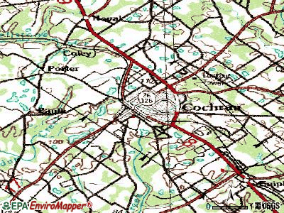 Cochran topographic map