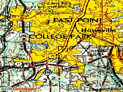 College Park topographic map