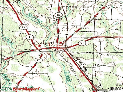 Colquitt topographic map