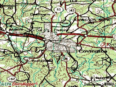Covington topographic map