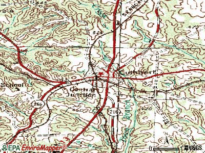 Cuthbert topographic map