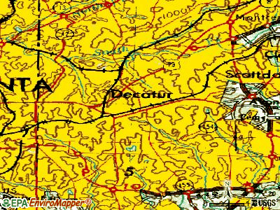 Decatur topographic map