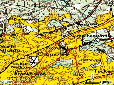 Doraville topographic map