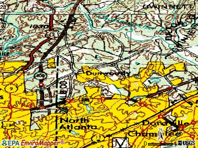 Dunwoody topographic map