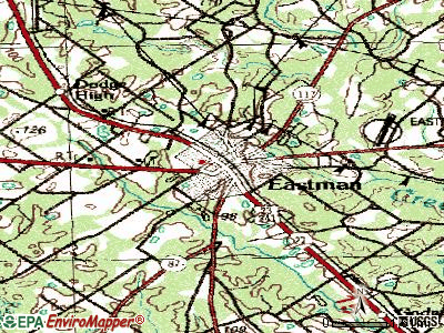 Eastman topographic map