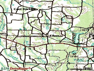 Ellenton topographic map
