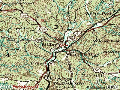 Ellijay topographic map