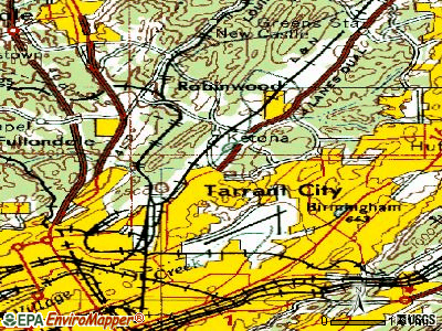 Tarrant topographic map