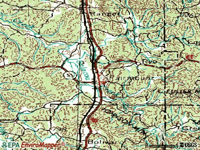 Fairmount topographic map