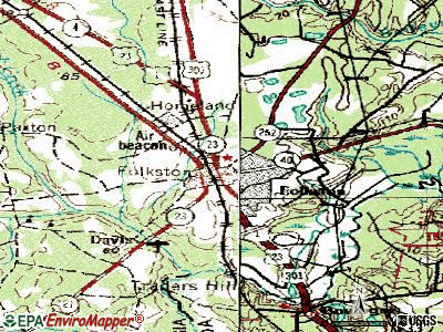 Folkston topographic map