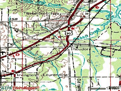 Theodore topographic map