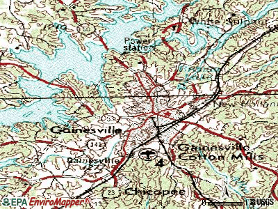 Gainesville topographic map
