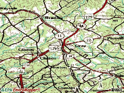 Gray topographic map