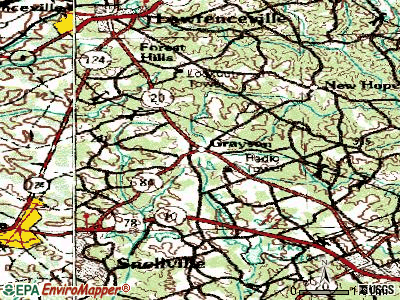 Grayson topographic map