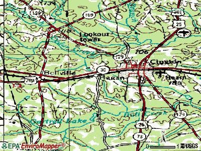 Hagan topographic map