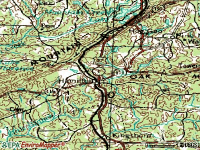 Hamilton topographic map
