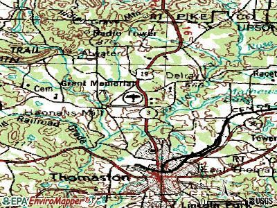 Hannahs Mill topographic map