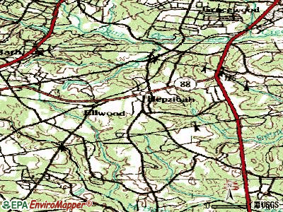 Hephzibah topographic map
