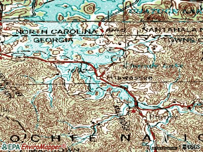 Hiawassee topographic map