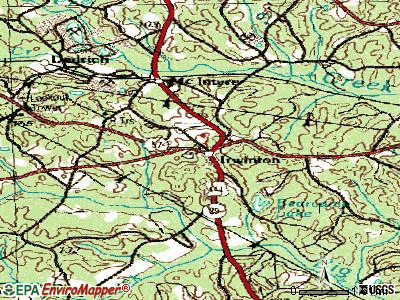 Irwinton topographic map