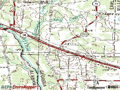 Jakin topographic map