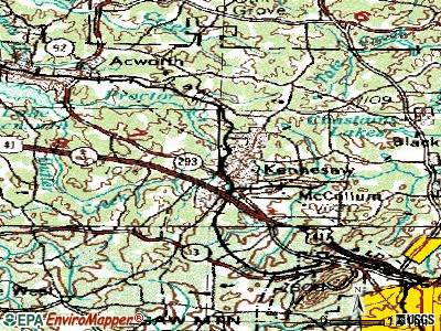 Kennesaw topographic map