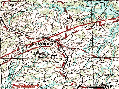 Lavonia topographic map