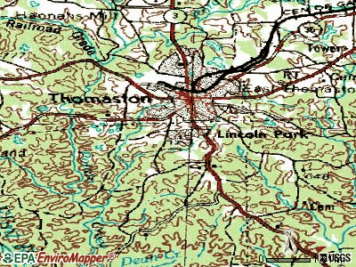 Lincoln Park topographic map