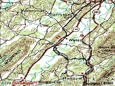 Mableton topographic map