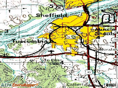 Tuscumbia topographic map
