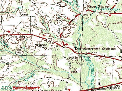 Morgan topographic map
