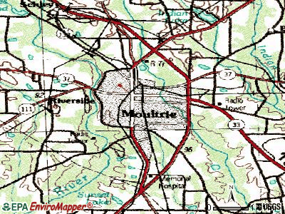 Moultrie topographic map