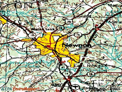 Newnan topographic map