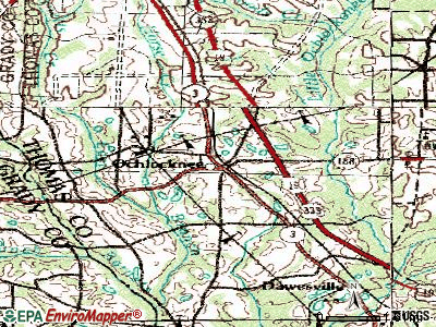 Ochlocknee topographic map