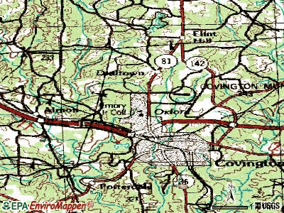 Oxford topographic map
