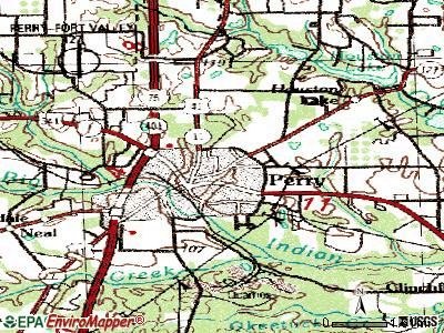 Perry topographic map