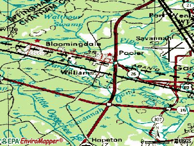 Pooler topographic map