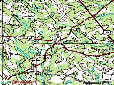 Portal topographic map