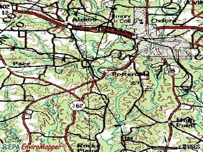 Porterdale topographic map