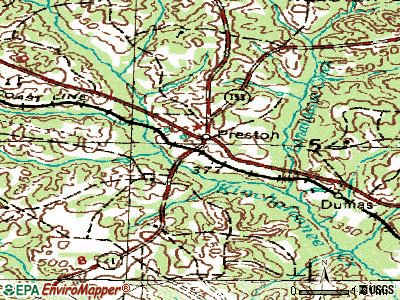 Powder Springs topographic map